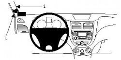Fixation voiture Proclip  Brodit Hyundai Accent Réf 804660