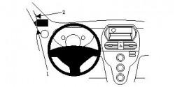 Fixation voiture Proclip  Brodit Citroen C-Zero Réf 804670