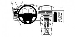 Fixation voiture Proclip  Brodit Volvo S80 Réf 804674