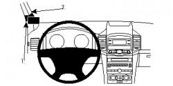 Fixation voiture Proclip  Brodit Chevrolet Captiva Réf 804679