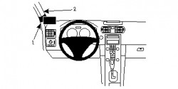 Fixation voiture Proclip  Brodit Volvo C30 Réf 804682