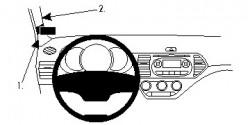Fixation voiture Proclip  Brodit Kia Picanto Réf 804692