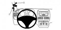 Fixation voiture Proclip  Brodit Fiat Doble Réf 804695