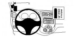 Fixation voiture Proclip  Brodit Nissan Tiida Réf 804700