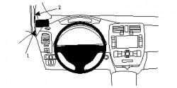 Fixation voiture Proclip  Brodit Nissan Leaf Réf 804707