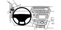 Fixation voiture Proclip  Brodit Toyota Prius + Réf 804714