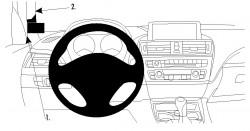 Fixation voiture Proclip  Brodit BMW 1-Series F20, F21  Uniquement pour les modèles 5 portes. Réf 804722