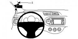 Fixation voiture Proclip  Brodit Toyota Yaris Réf 804724