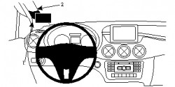 Fixation voiture Proclip  Brodit Mercedes Benz B-Class Réf 804726