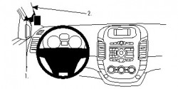 Fixation voiture Proclip  Brodit Ford Ranger Réf 804729