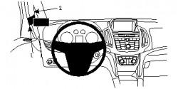 Fixation voiture Proclip  Brodit Opel Zafira C Réf 804735