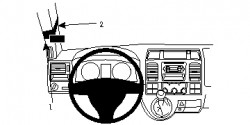 Fixation voiture Proclip  Brodit Volkswagen Caravelle  PAS pour les modèles avec poignée A-poste. Réf 804736