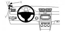 Fixation voiture Proclip  Brodit Volkswagen Passat Réf 804739