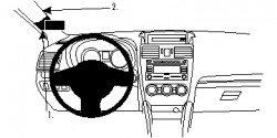 Fixation voiture Proclip  Brodit Subaru Impreza Réf 804748