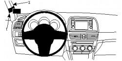 Fixation voiture Proclip  Brodit Mazda CX-5 Réf 804753