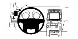 Fixation voiture Proclip  Brodit Toyota LandCruiser 150 Réf 804803
