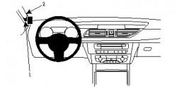 Fixation voiture Proclip  Brodit Audi A6 Réf 804807