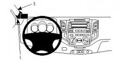 Fixation voiture Proclip  Brodit Toyota HiLux Réf 804811