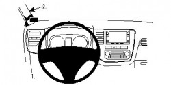 Fixation voiture Proclip  Brodit Mitsubishi Outlander Réf 804818