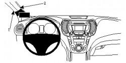 Fixation voiture Proclip  Brodit Hyundai Santa Fe Réf 804835