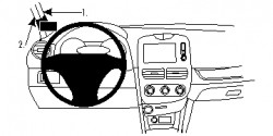 Fixation voiture Renault Clio IV. Réf Brodit 804860