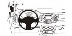 Fixation voiture Proclip  Brodit Fiat 500 L Réf 804882