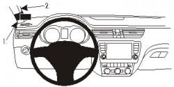 Fixation voiture Proclip  Brodit Skoda Octavia III Réf 804887
