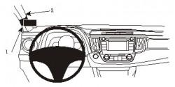 Fixation voiture Proclip  Brodit Toyota RAV 4 Réf 804894