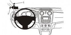 Fixation voiture Proclip  Brodit Dacia Sandero Réf 804898