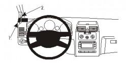 Fixation voiture Proclip  Brodit Volkswagen Touran Réf 804908