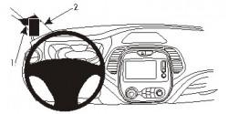 Fixation voiture Proclip  Brodit Renault Captur Réf 804943