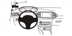 Fixation voiture Proclip  Brodit Peugeot 308 Réf 804953