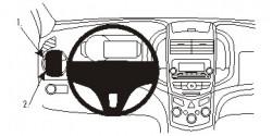 Fixation voiture Proclip  Brodit Chevrolet Trax Réf 804976