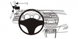 Fixation voiture Proclip  Brodit Suzuki SX4 S-Cross Réf 804983