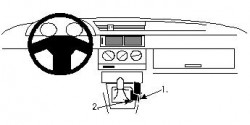 Fixation voiture Proclip  Brodit Alfa Romeo 155 Réf 832207