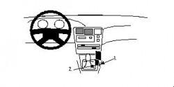 Fixation voiture Proclip  Brodit Toyota Corolla Réf 832216