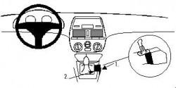 Fixation voiture Proclip  Brodit Fiat Brava Réf 832225