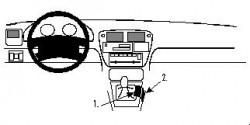 Fixation voiture Proclip  Brodit Honda Civic Réf 832230