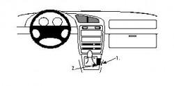 Fixation voiture Proclip  Brodit Suzuki Baleno Réf 832232