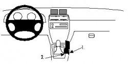 Fixation voiture Proclip  Brodit Chevrolet Tracker Réf 832234