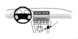 Fixation voiture Proclip  Brodit BMW 520-540/M5 E39 Réf 832281