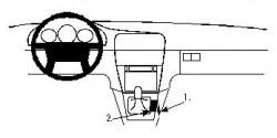 Fixation voiture Proclip  Brodit Volvo S40 Réf 832284
