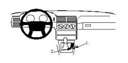 Fixation voiture Proclip  Brodit Volvo 850 Réf 832291