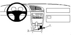Fixation voiture Proclip  Brodit Ford Courier Réf 832294