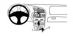 Fixation voiture Proclip  Brodit Mitsubishi Colt Réf 832307