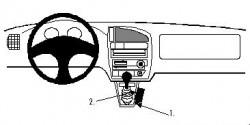 Fixation voiture Proclip  Brodit Citroen Saxo Réf 832312