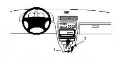 Fixation voiture Proclip  Brodit Toyota Starlet Réf 832313