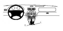 Fixation voiture Proclip  Brodit MG ZR Réf 832316