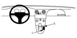 Fixation voiture Proclip  Brodit Fiat Barchetta Réf 832330
