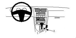 Fixation voiture Proclip  Brodit Nissan 200 SX Réf 832343